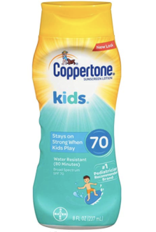 Coppertone kids water resistant sunscreen lotion