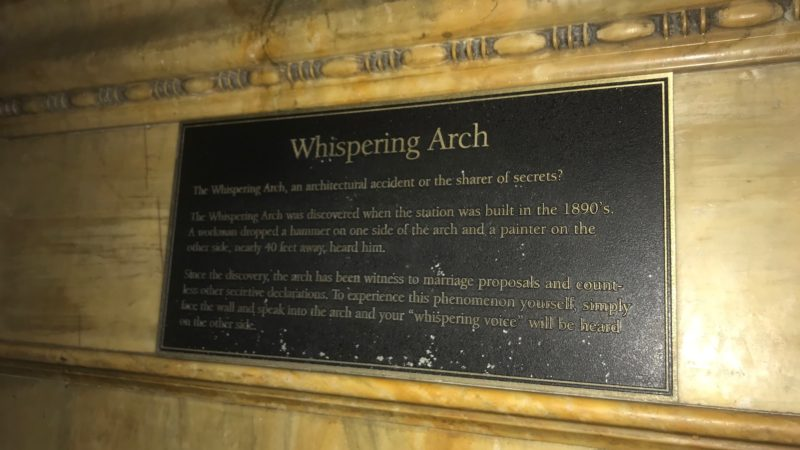 Whispering Arch sign at St. Louis Union Station