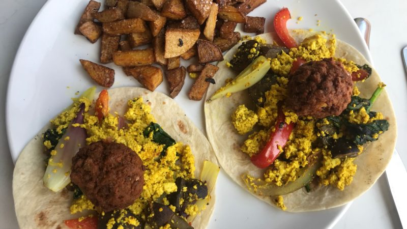 Tacos with vegan sausage at Small Batch, of the best St. Louis restaurants for families