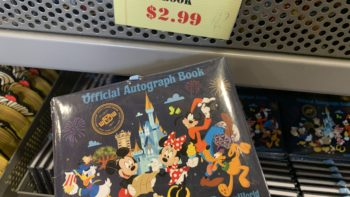 Autograph books from the Disney outlet store