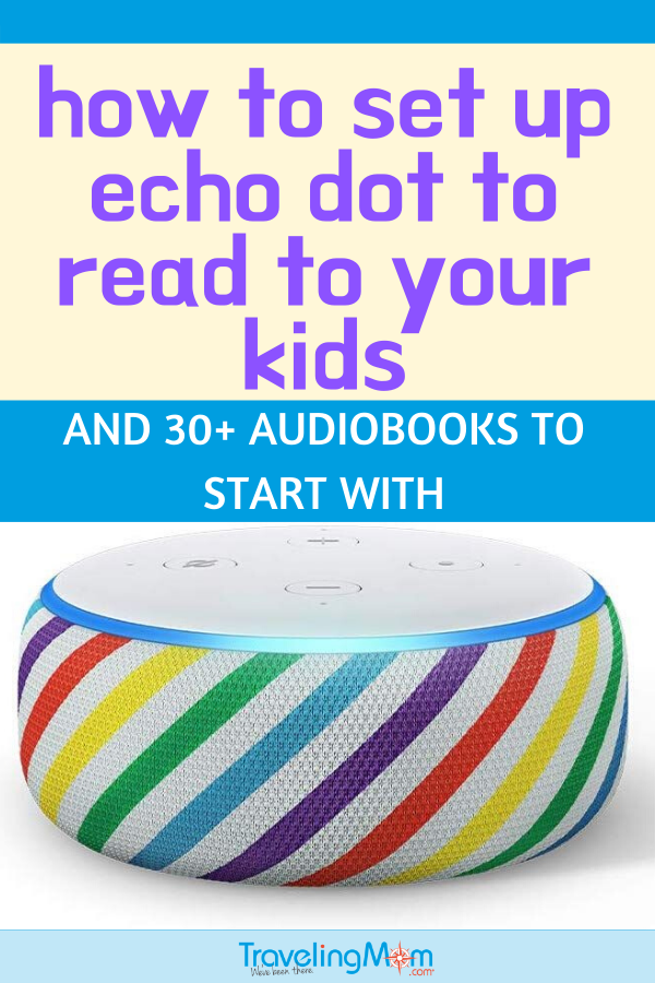 echo dot with rainbow stripes