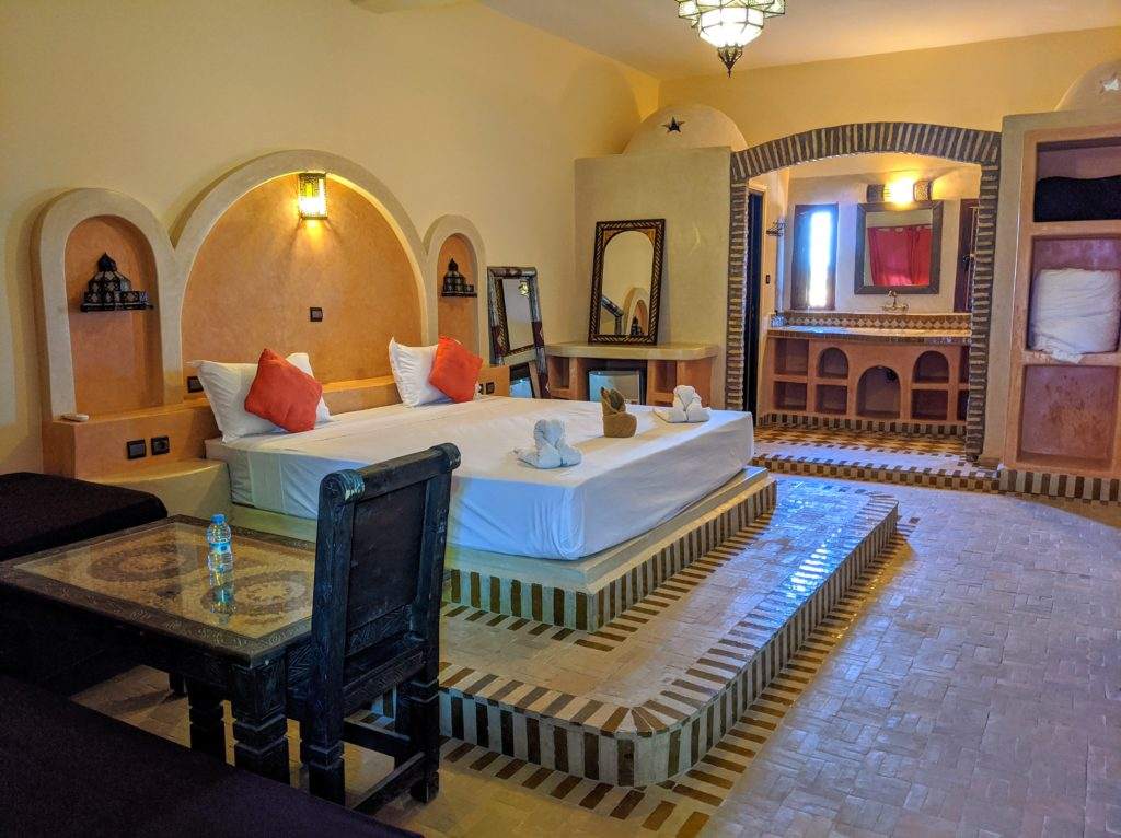 Room at the Hotel Nomad Palace in Merzouga Morocco.