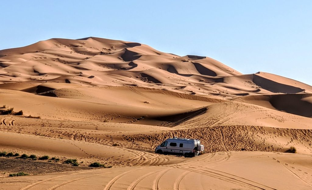 Morocco travel means camping in the Sahara Desert for Europeans.