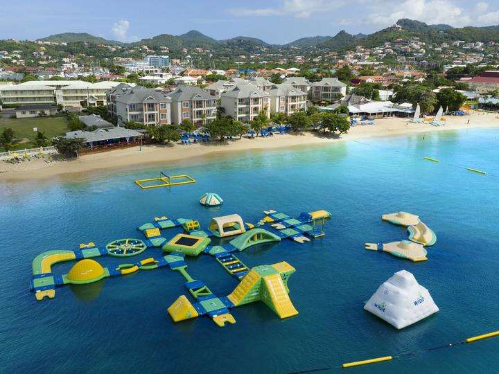 Splash Island Water Park at Bay Gardens Beach Resort & Spa all inclusive resort in St. Lucia
