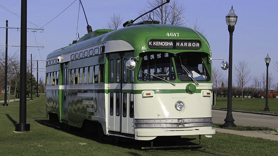 Kenosha electric streetcar green