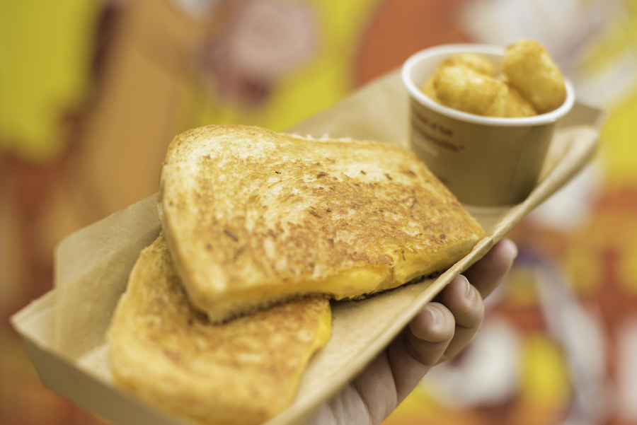Recipe for 3-cheese grilled cheese sandwich at Disney World's Toy Story Land.