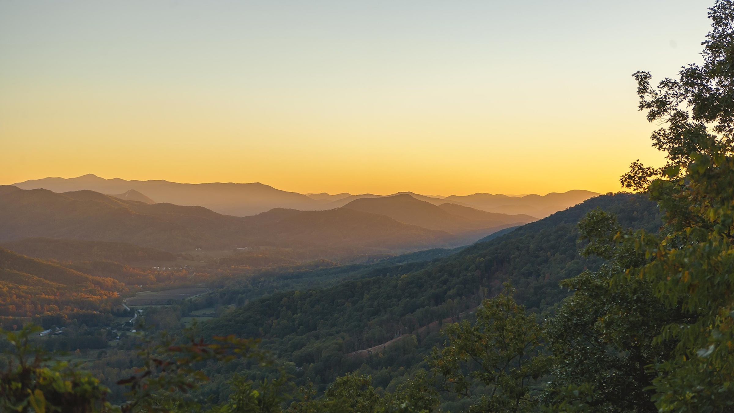 Georgia road trips from Atlanta deliver views of the Blue Ridge Mountains.