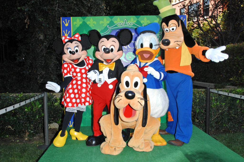 Mickey Mouse, MInnie Mouse, Donald Duck, Goofy and Pluto Disney characters