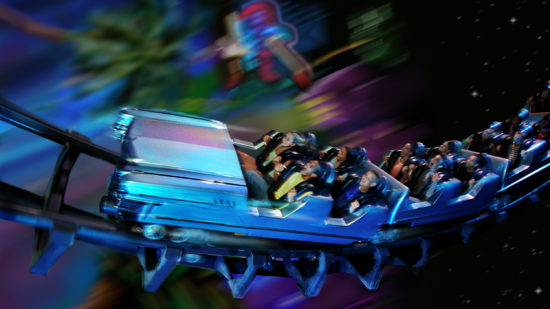 Disney thrill ride Rock 'n' Roller Coaster at Hollywood Studios