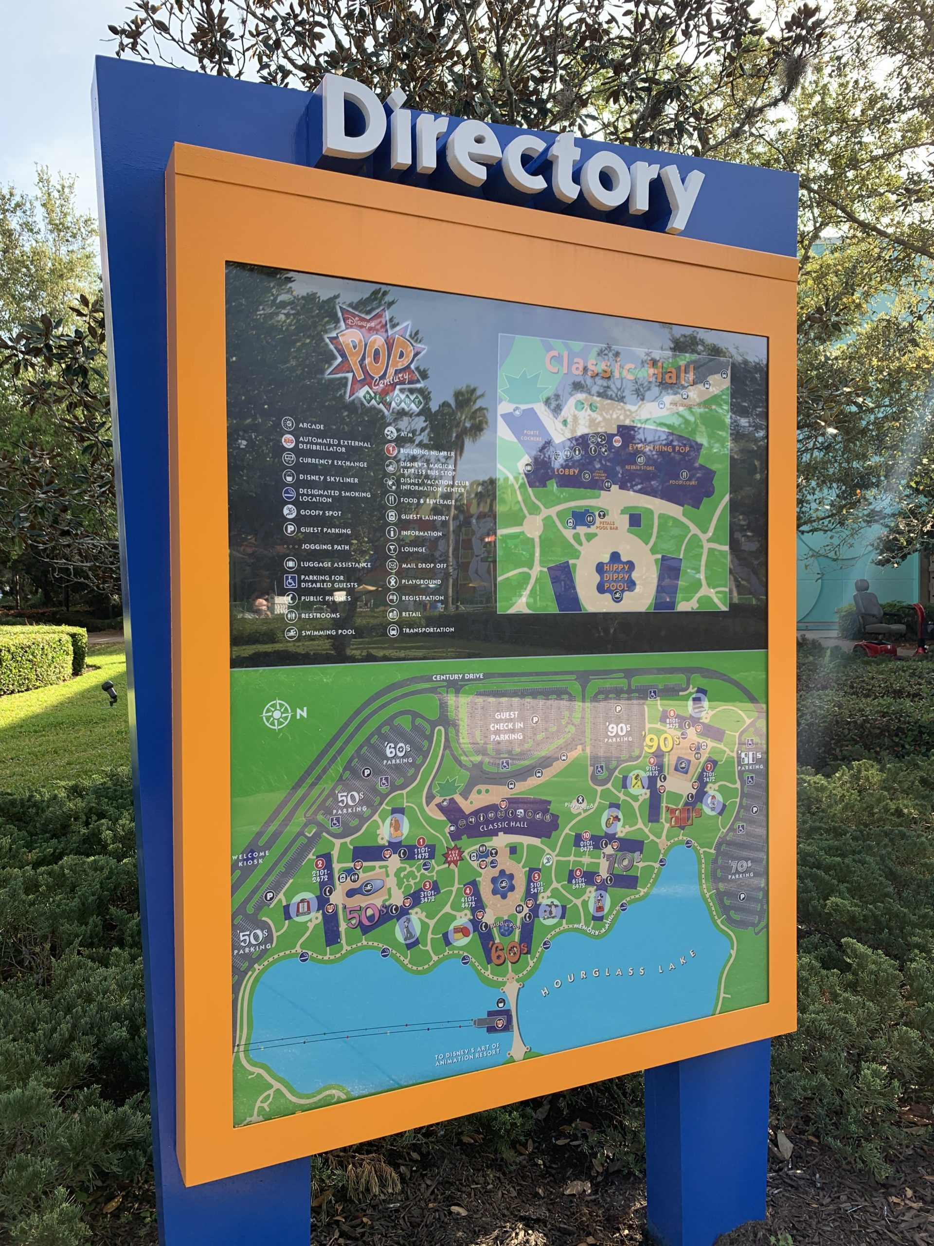 Resort map at the pop century
