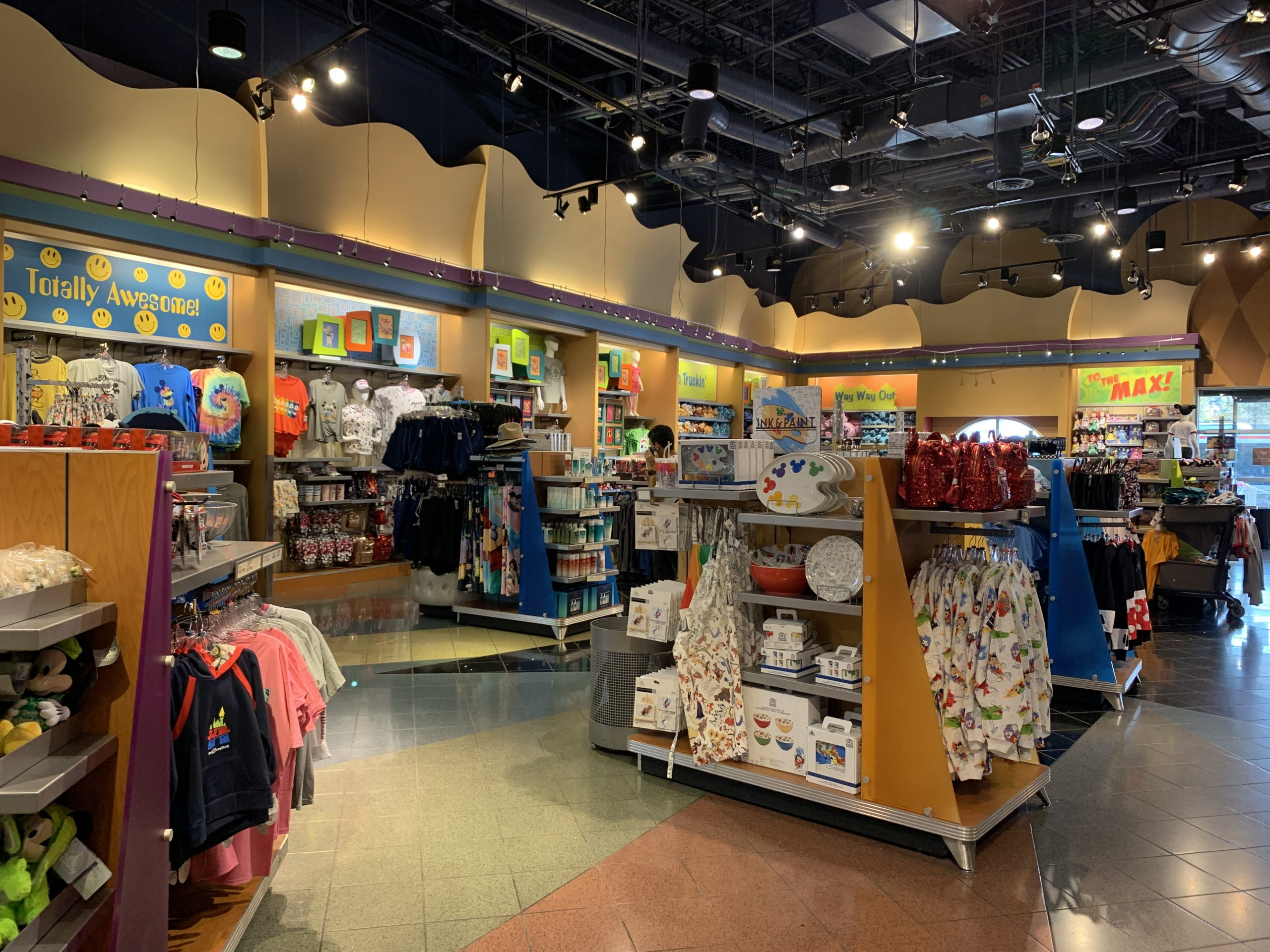 Shopping at the Pop Century resort