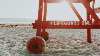 Lifeguard chair at Daytona Beach Florida