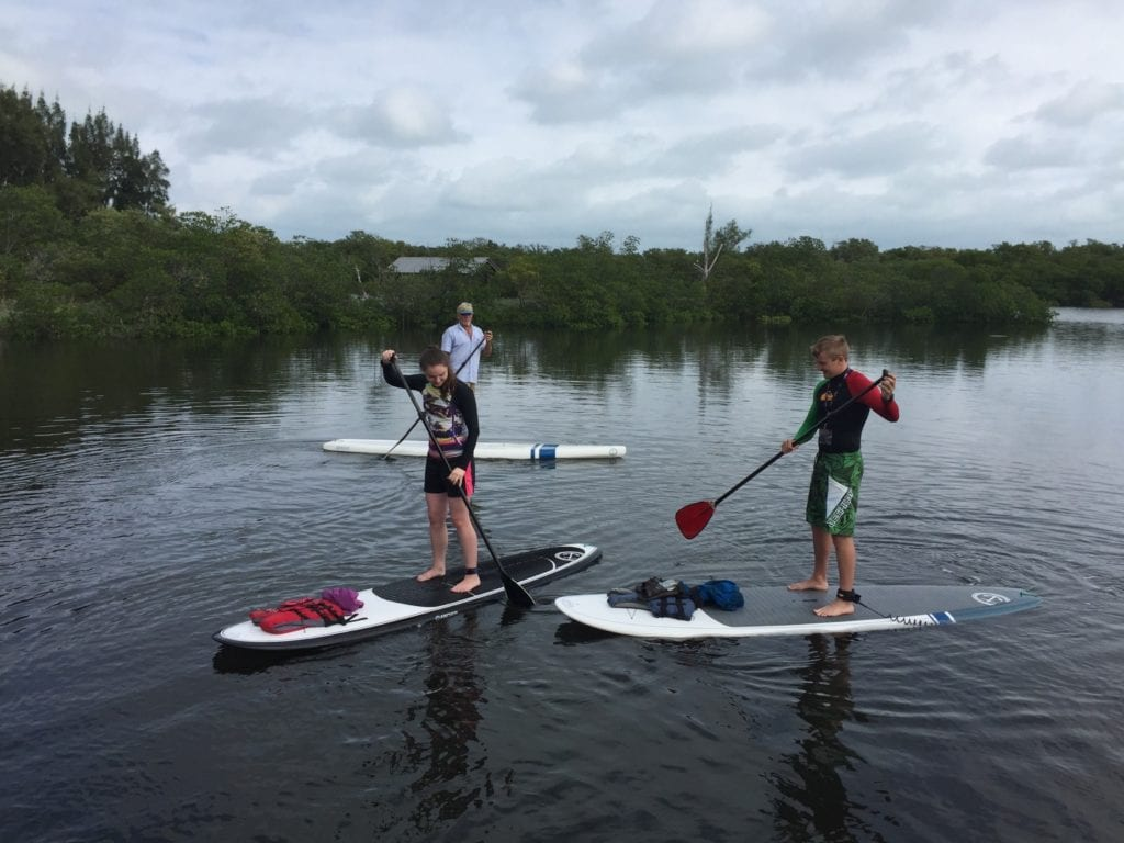 Paddle boarding in Martin County Florida