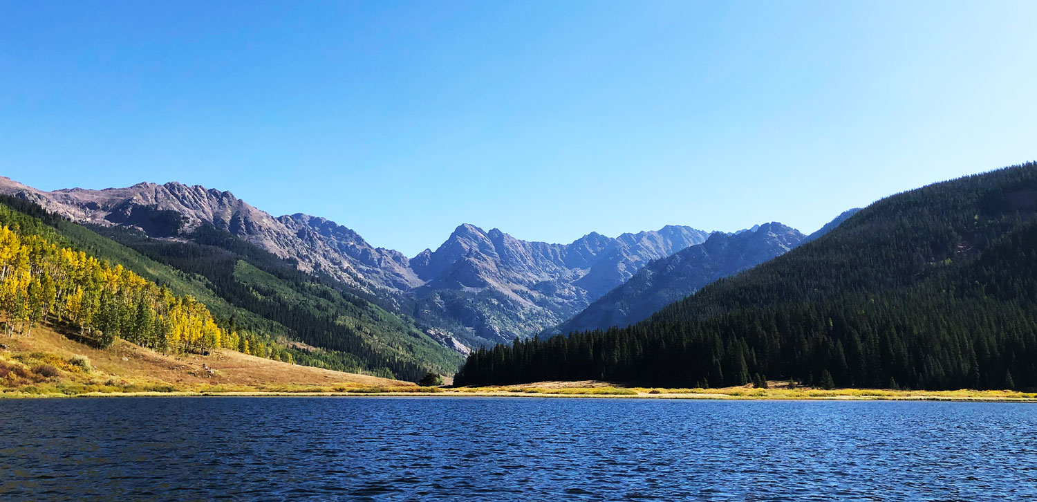 Piney Lake during the Vail Colorado summer season