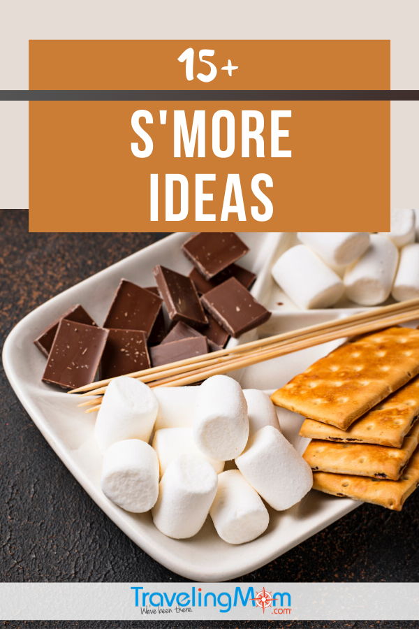 pin for post on how to make s'mores