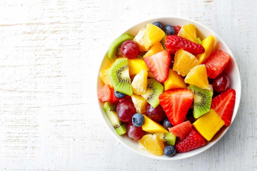 bowl of fresh fruit as a toddler snack idea