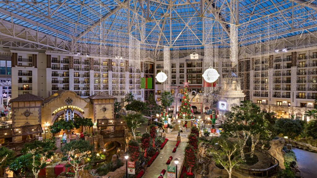 Christmas decorations at the Gaylord Texan in Grapevine