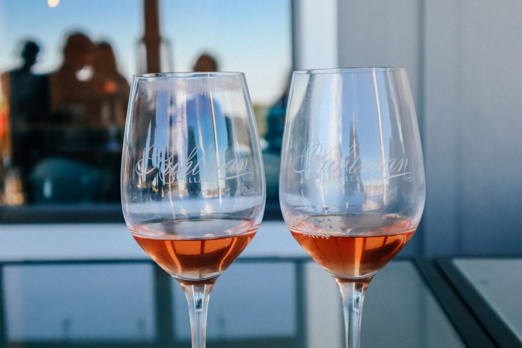 Rose wine at Kuhlman Cellars in the Texas Hill Country