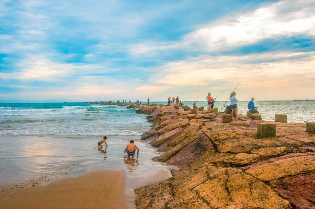 kids playing in the oceans inSouth Padre Island. Texas vacations for families