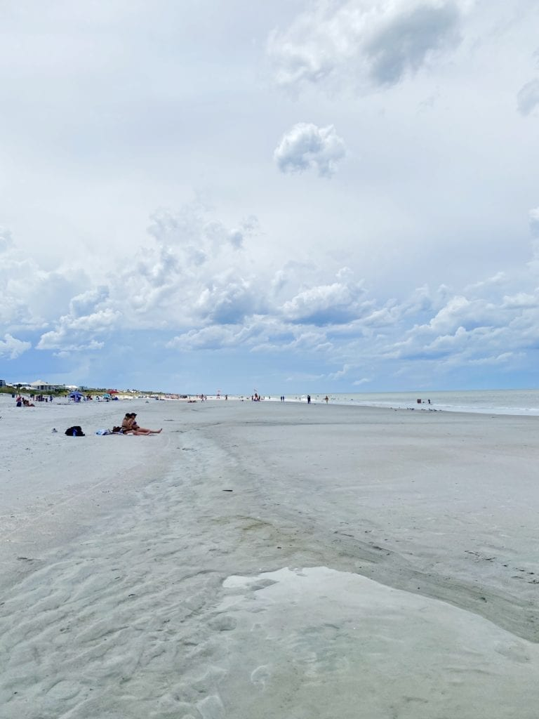 Social distancing is easy on the wide open Jacksonville Beaches