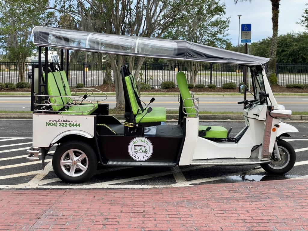 Ride with Go Tuk'n around Downtown Jacksonville