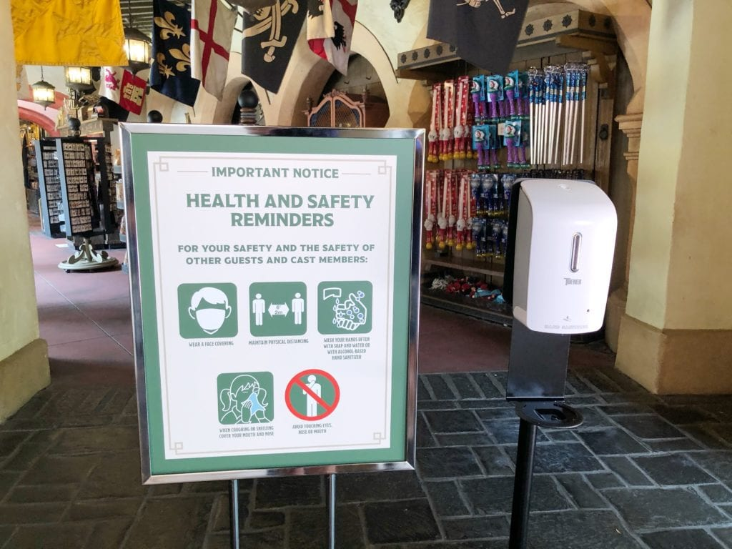 Disney World changes - hand sanitizer stations are everywhere in the parks