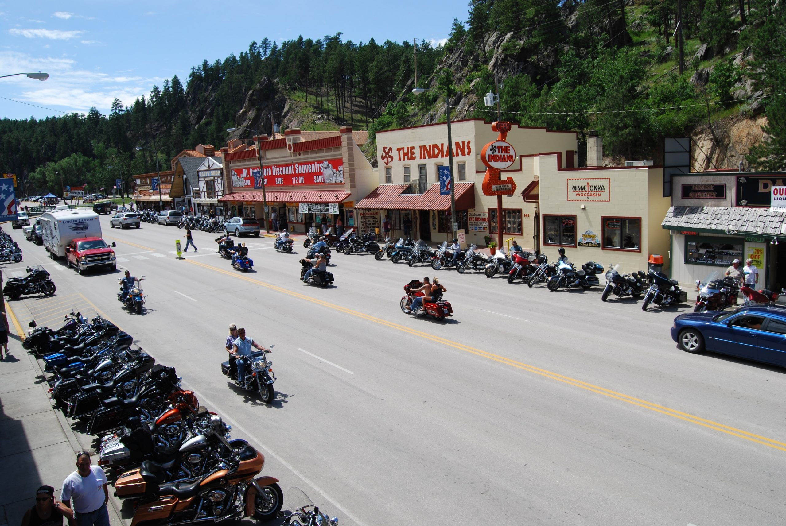 Located in the center of the Black Hills, Keystone is a family friendly, year-round destination..but during the Sturgis Motorcycle Rally, it is also a favorite stop for motorcyclists.