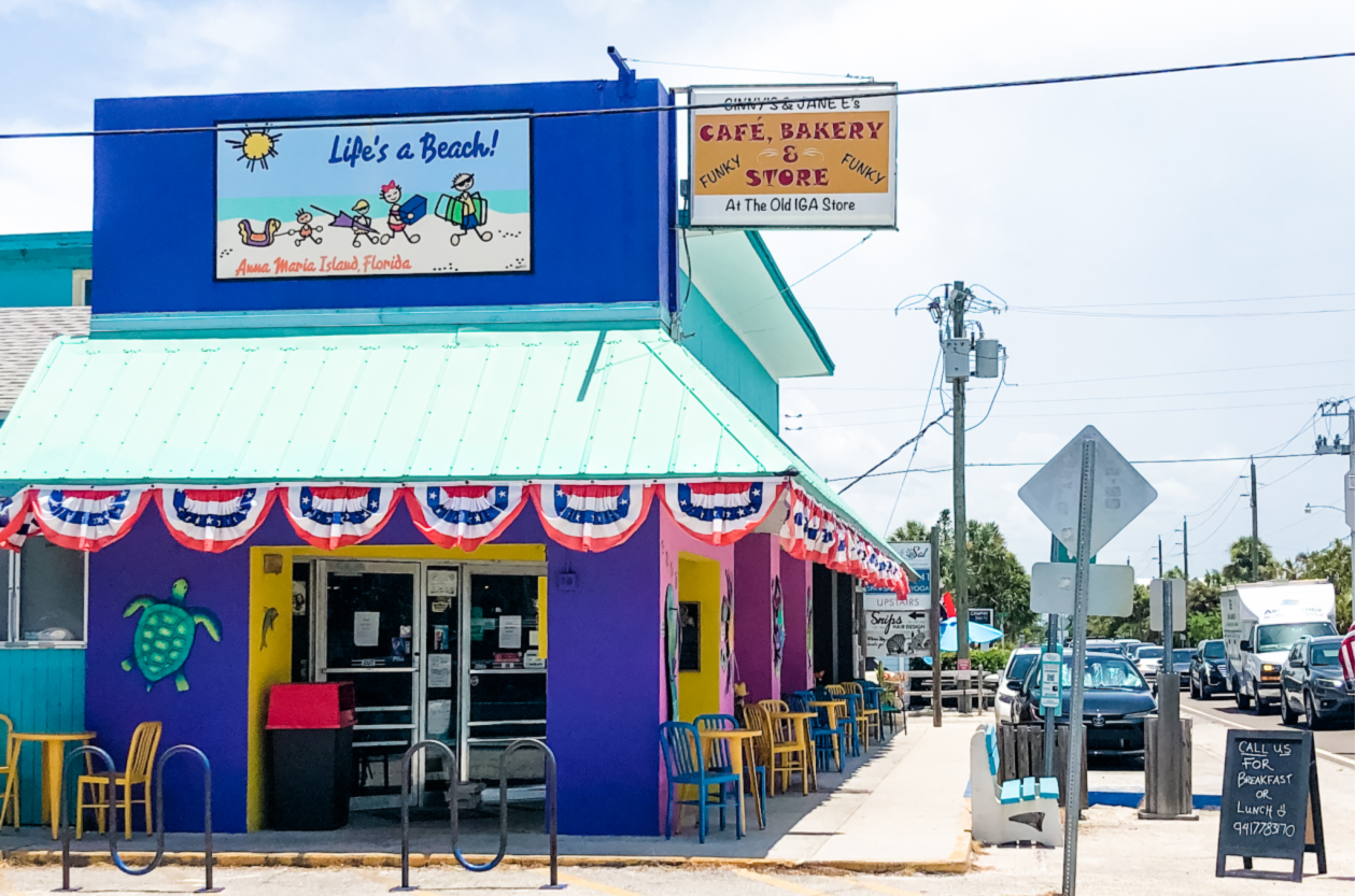 Best Florida Beaches - Ginny and Jane E's in Anna Maria Island