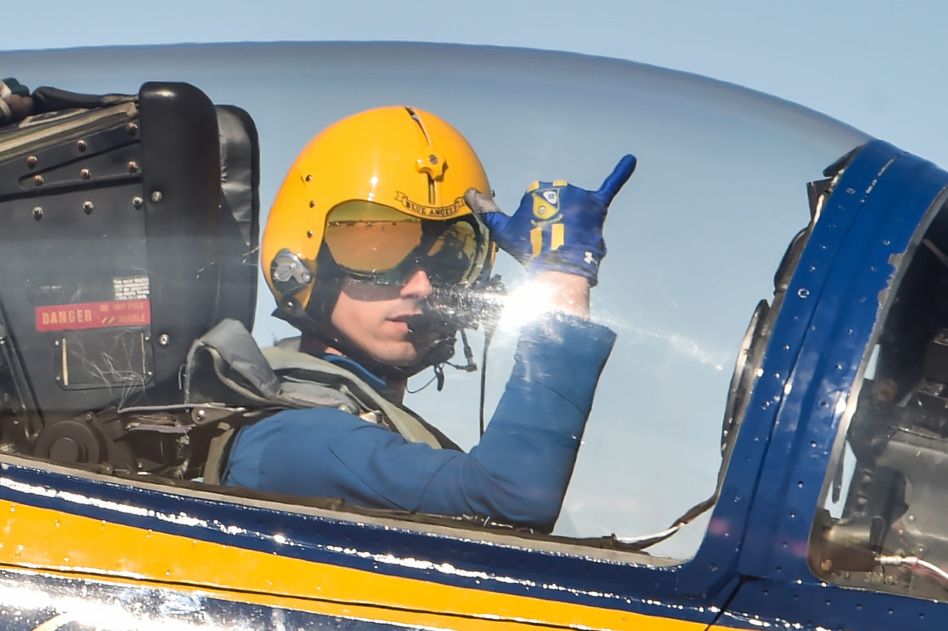 Up close and personal with a Blue Angels pilot