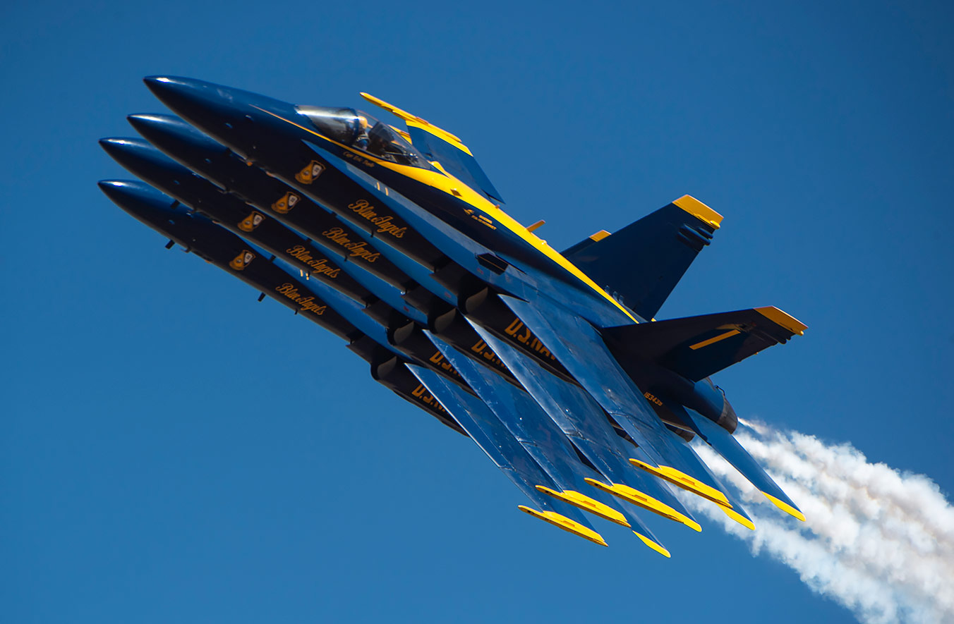 Blue Angels flyovers are breath-taking!