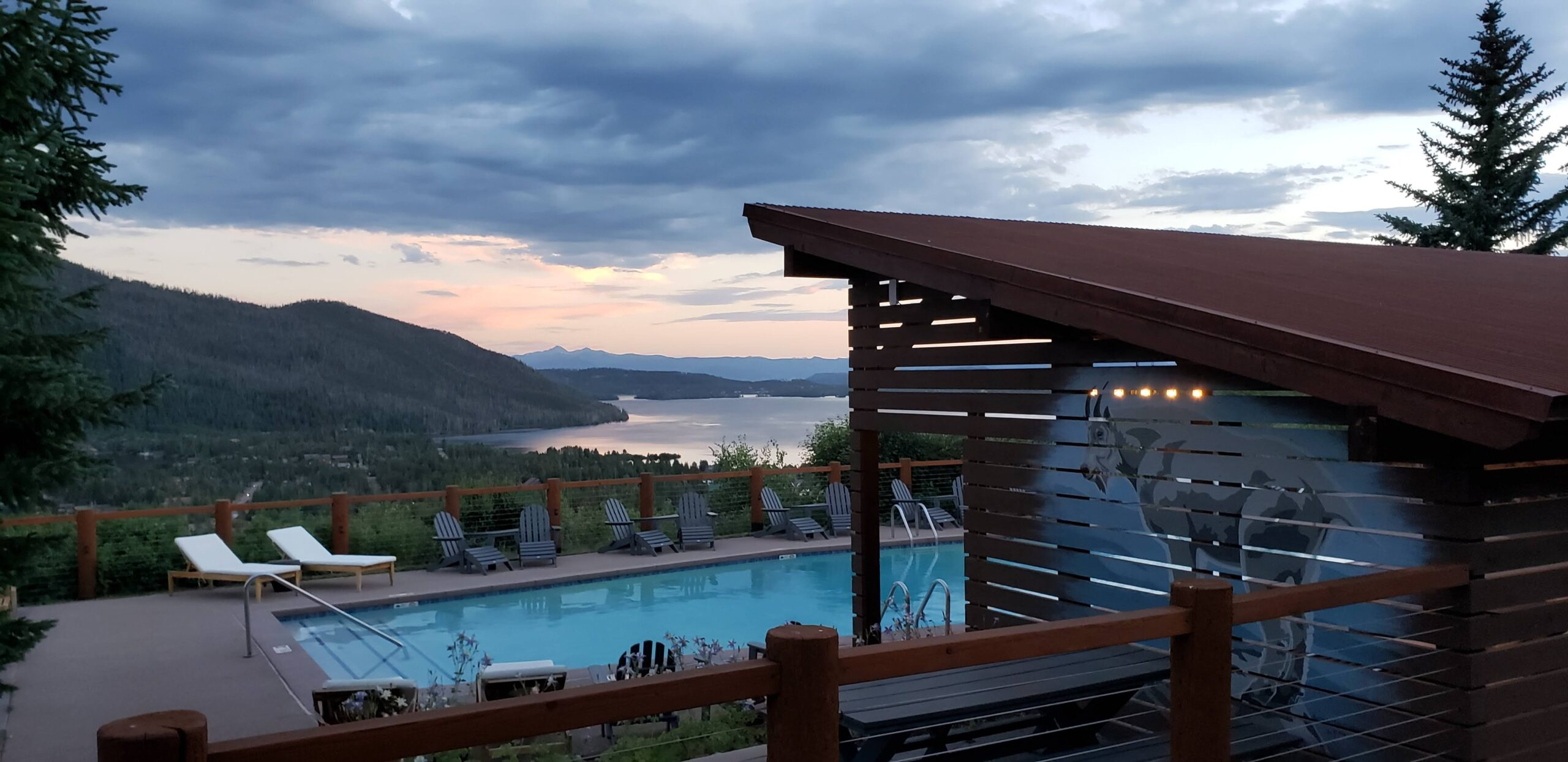 The best view of Grand Lake is from the Grand Lake Lodge. Photo: Diana Rowe