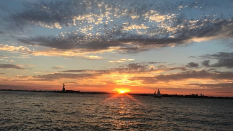 Sunset from Governors Island