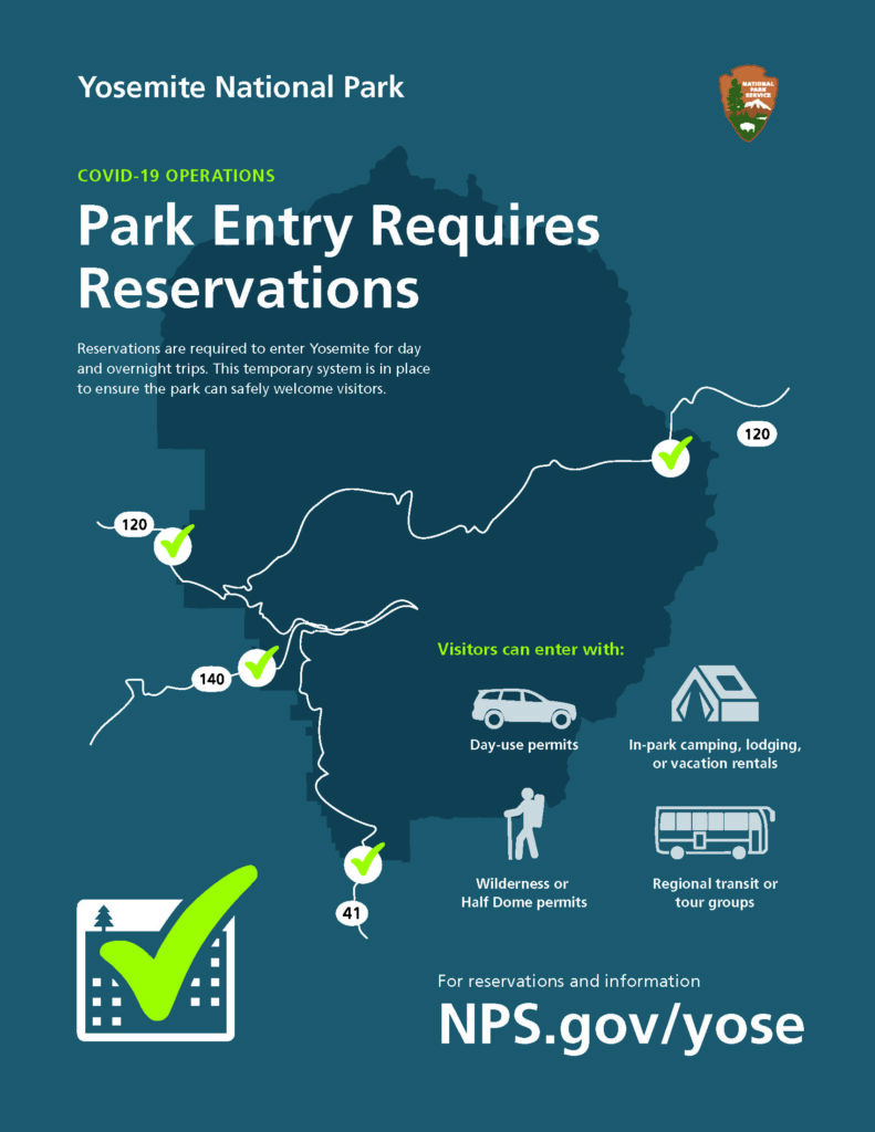 Yosemite park entry requirements