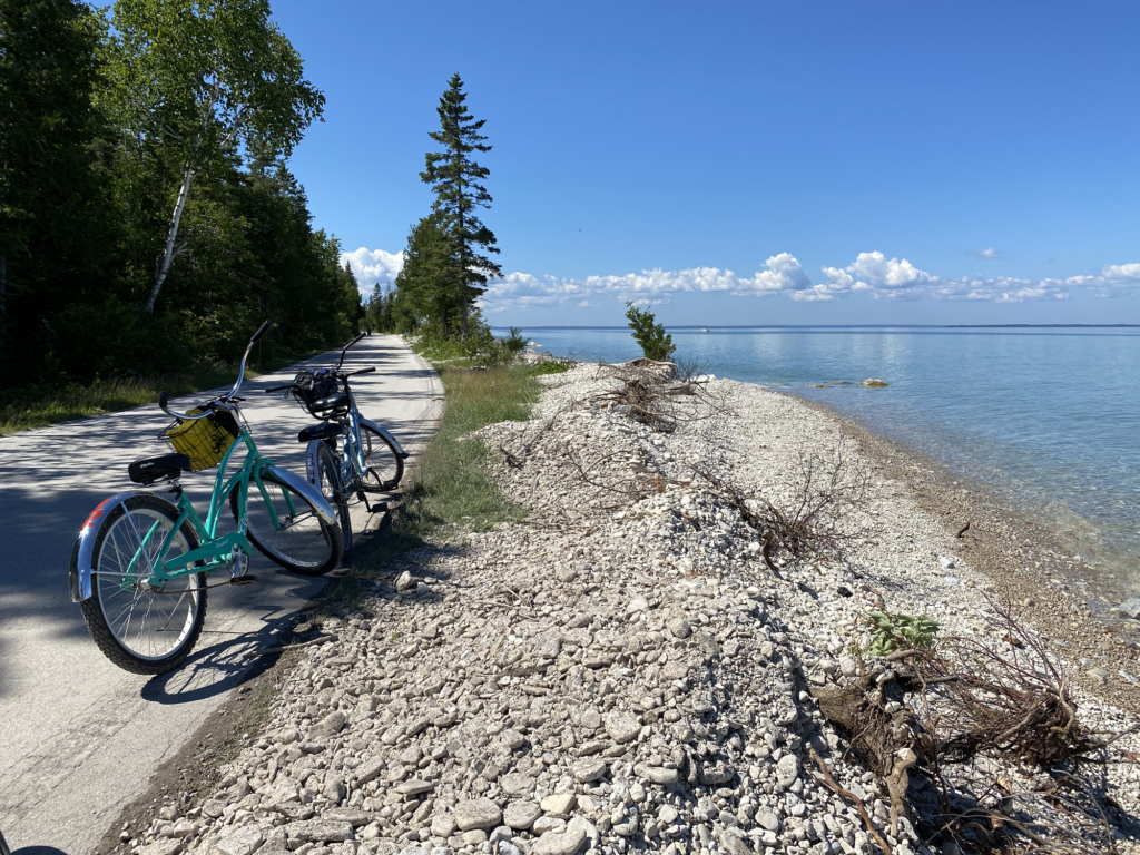 Biking is one of many popular things to do on Mackinac Island.
