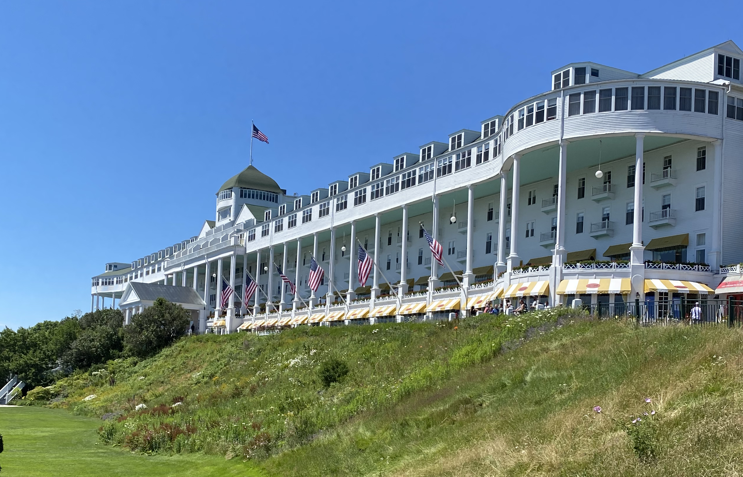 Visiting the Grand Hotel is one of many things to do on Mackinac Island.