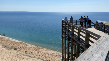 Lookout at Sleeping Bear Dunes in Michigan