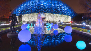 Garden Glow at the Missouri Botanical Garden in St. Louis, one of many Christmas lights displays in the Midwest