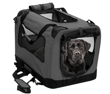 Soft travel crate for dogs perfect for rving with a dog