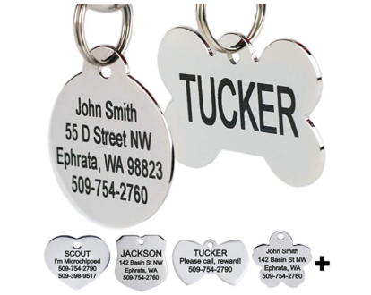 ID tag for your pet when traveling with a dog