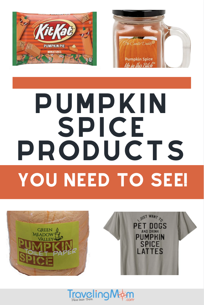 pumpkin spice toilet paper, t-shirts, candles and kit-kats