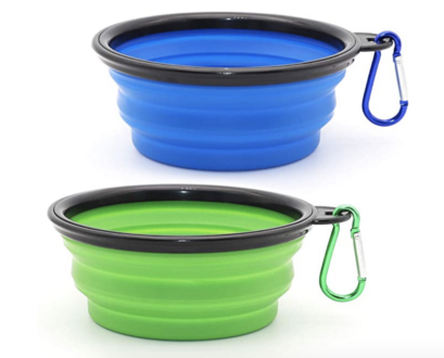 Travel dog bowls for rv travel with a pet