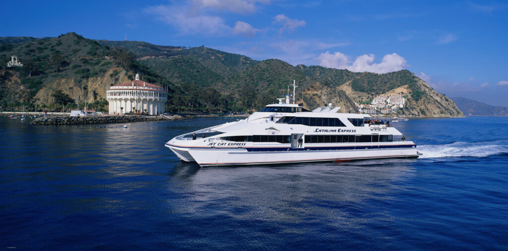 The Catalina Express is one way to get from the mainland to Catalina Island.