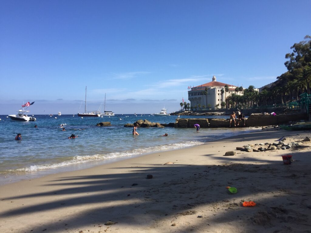 The beach is one of the fun things to do on Catalina Island