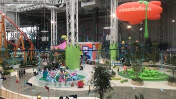 The massive indoor amusement park at American Dream New Jersey.