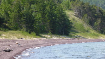 Lake Superior shoreline in the Keweenaw Peninsula of Michigan's UP.