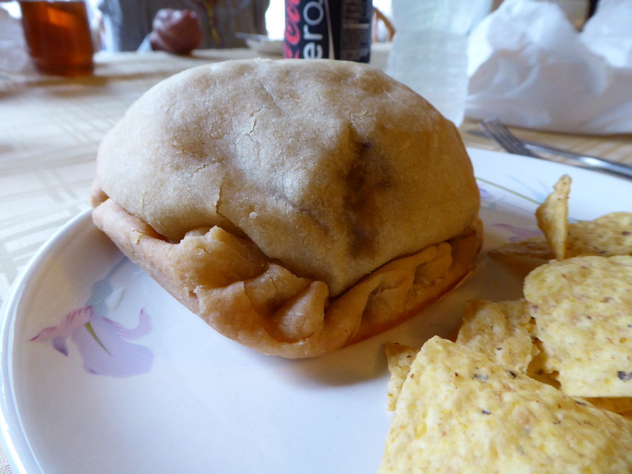 A tradition in the Keweenaw Peninsula, a pasty.
