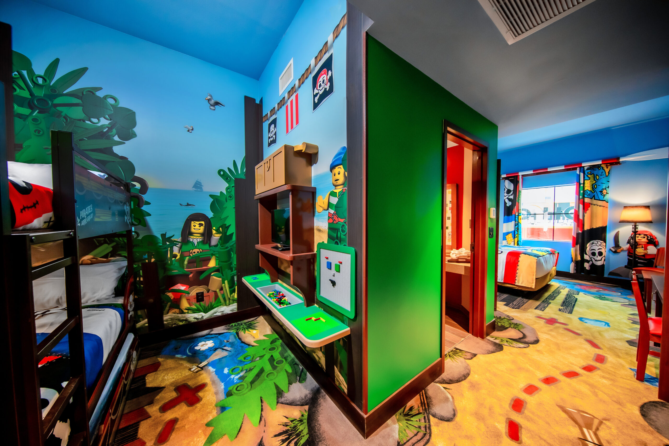 Themed room at the Pirate Island Hotel LEGOLAND