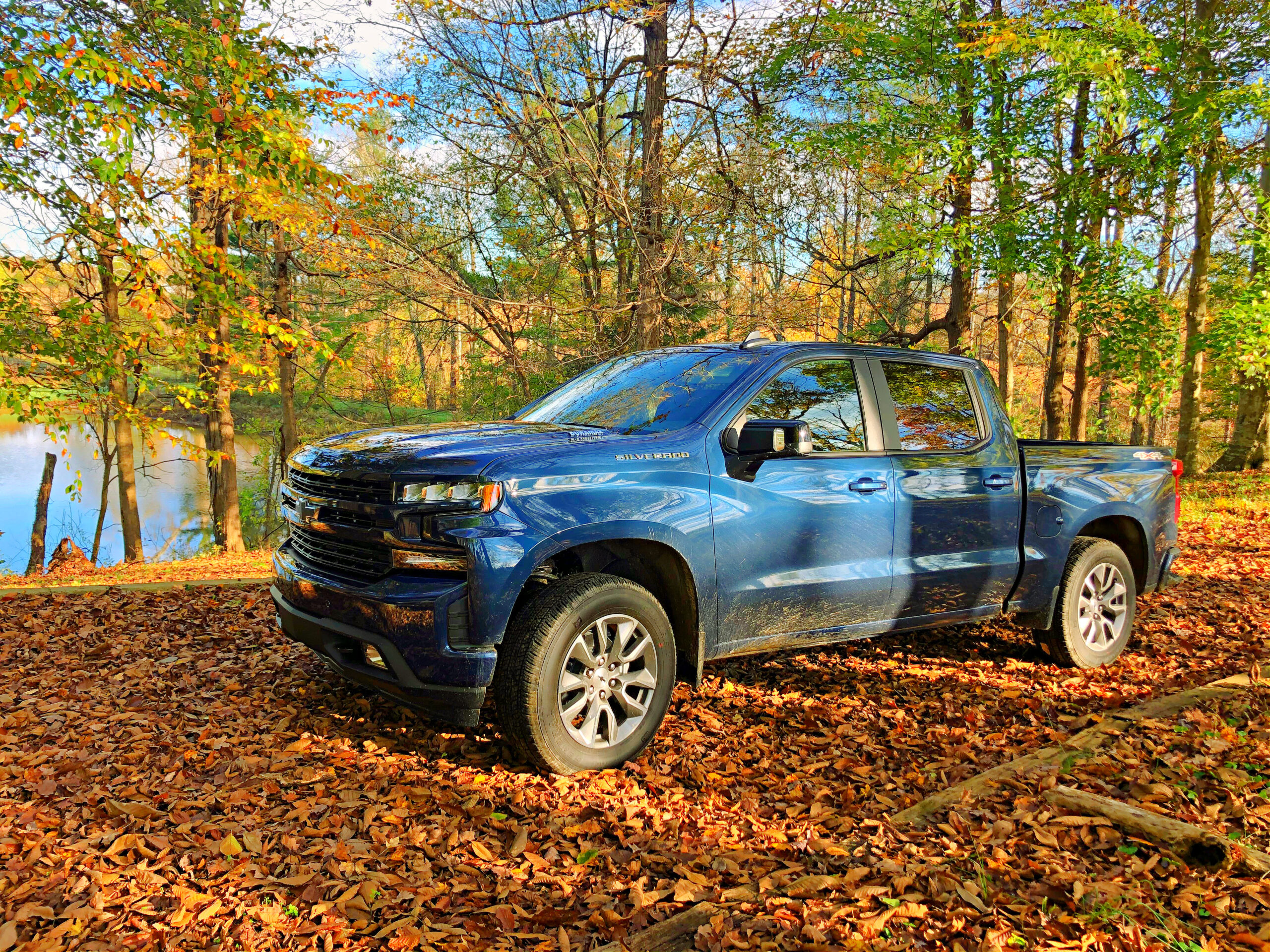 Chevy Silverado in Campbellsville KY woods.
