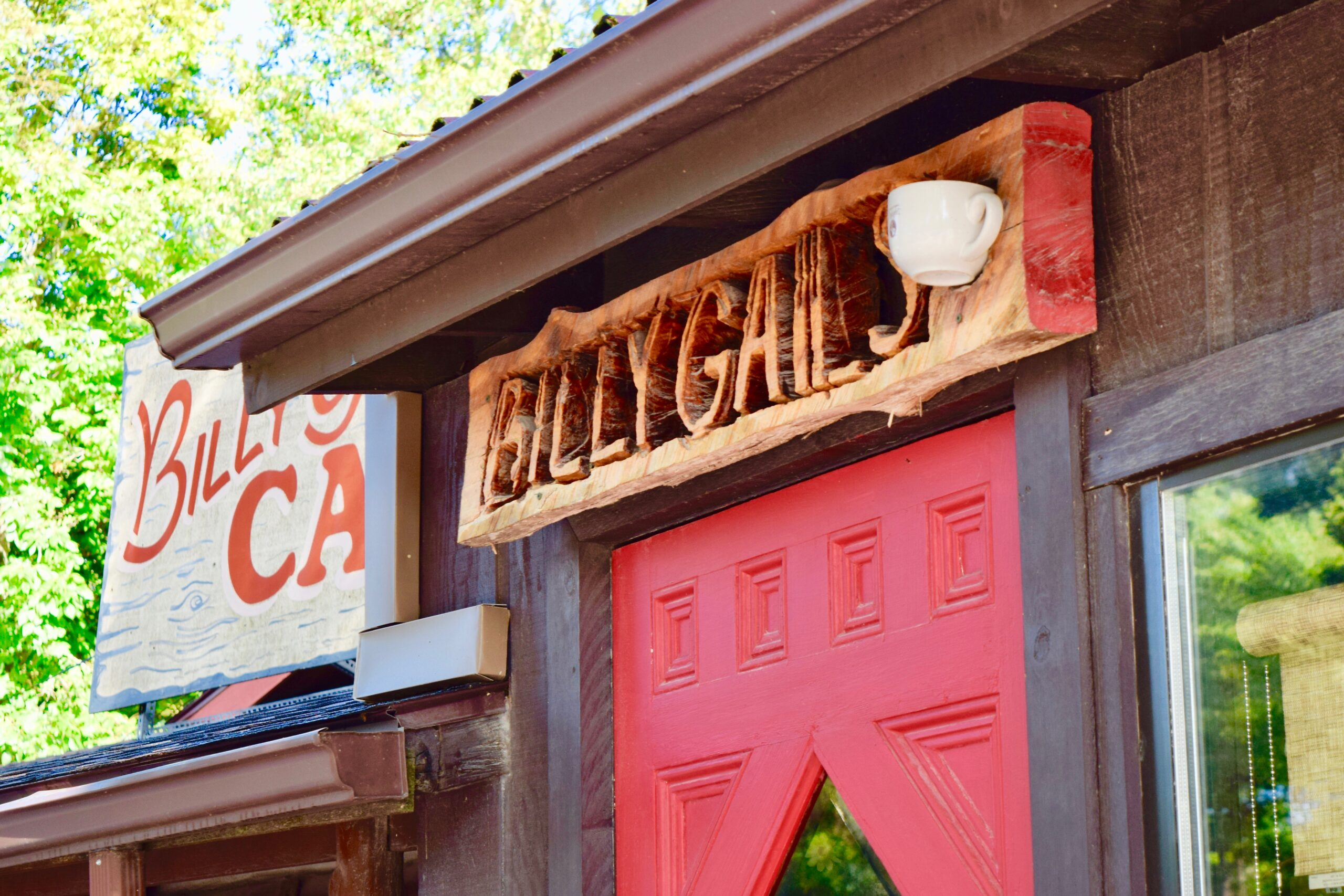 entrance to billy gail's cafe in branson, mo
