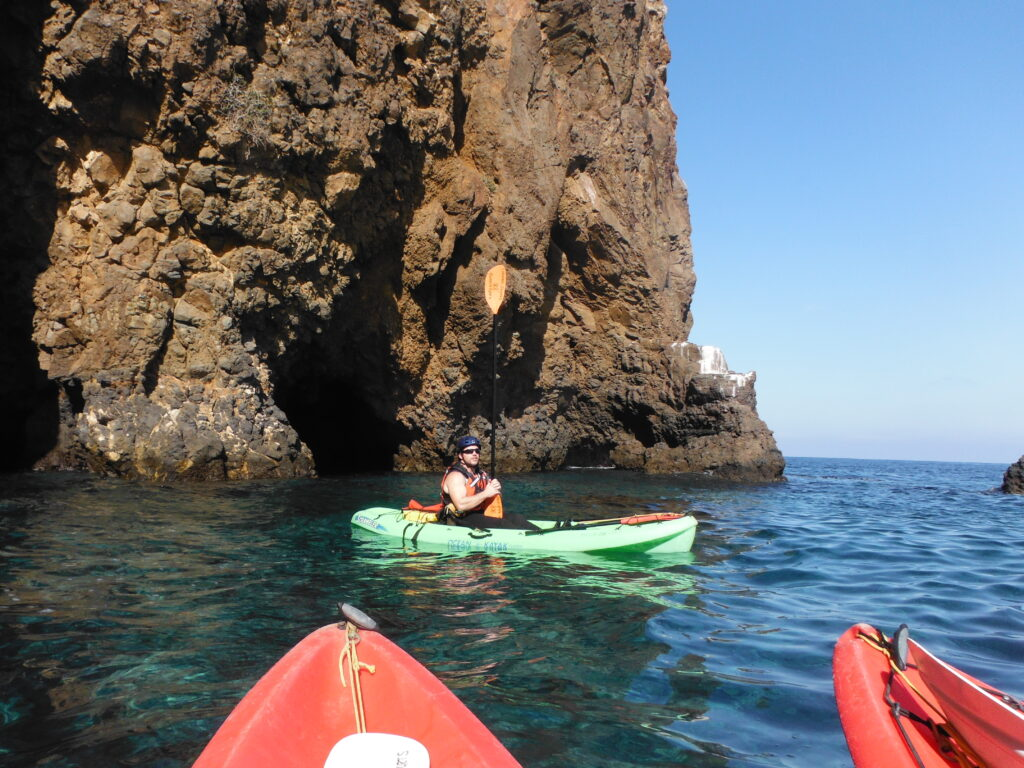 Kayaking on a California vacation for families
